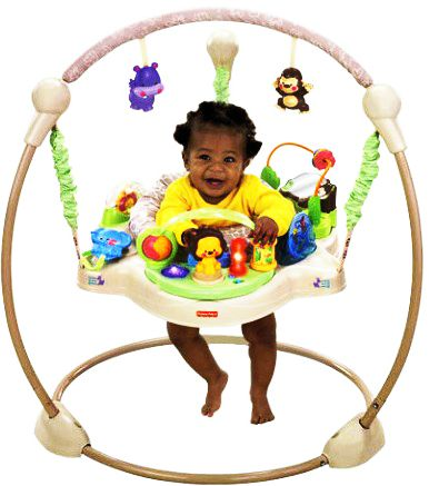 "Прыгунки Fisher Price jumperoo ""Khaki sands"" Хаки"